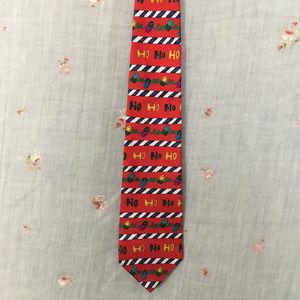 Christmas silk tie